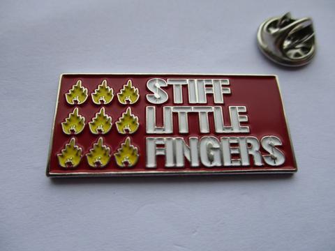 STIFF LITTLE FINGERS  Enamel Badge