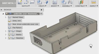 AutoDesk Fusion Sheetmetal