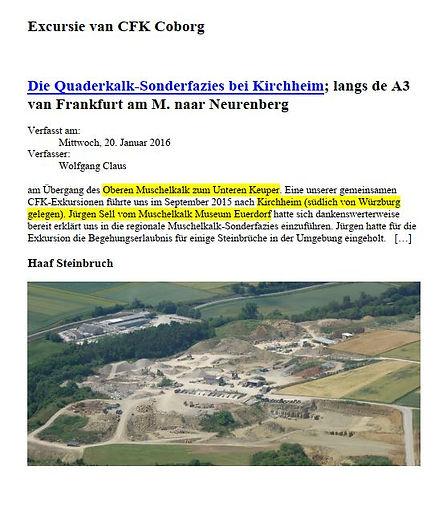 Die Quaderkal-sonderfazies bei kirchheim 2016