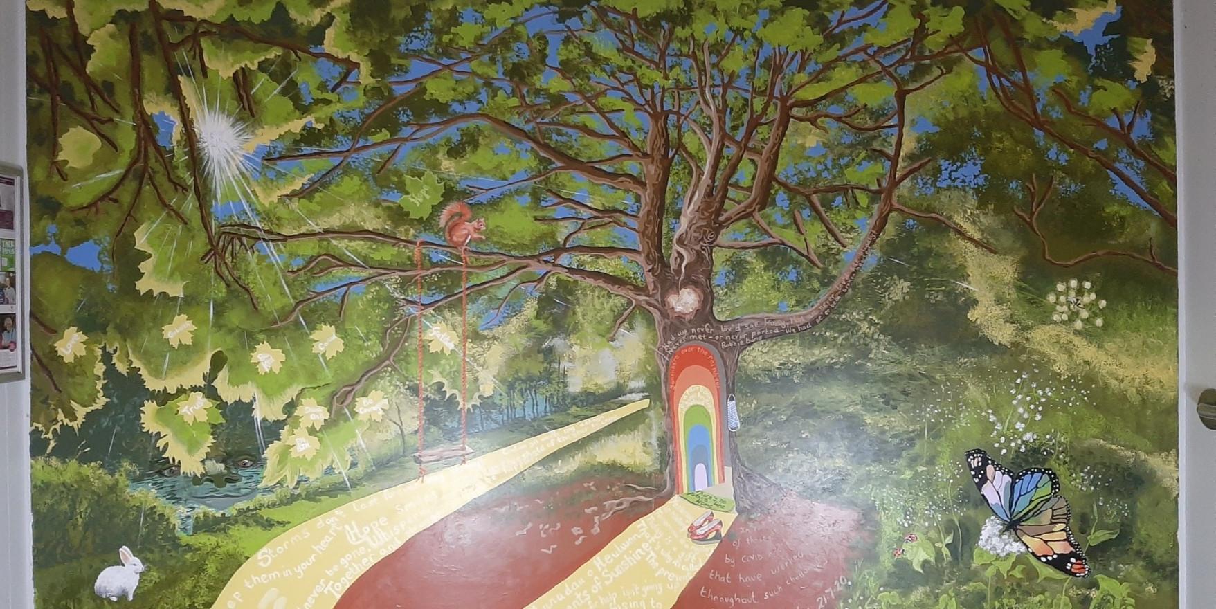 Wellbeing Tree Mural
