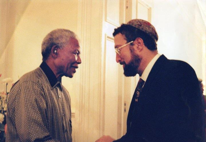 Nelson Mandela and my father Rabbi David Hoffman, both of blessed memory