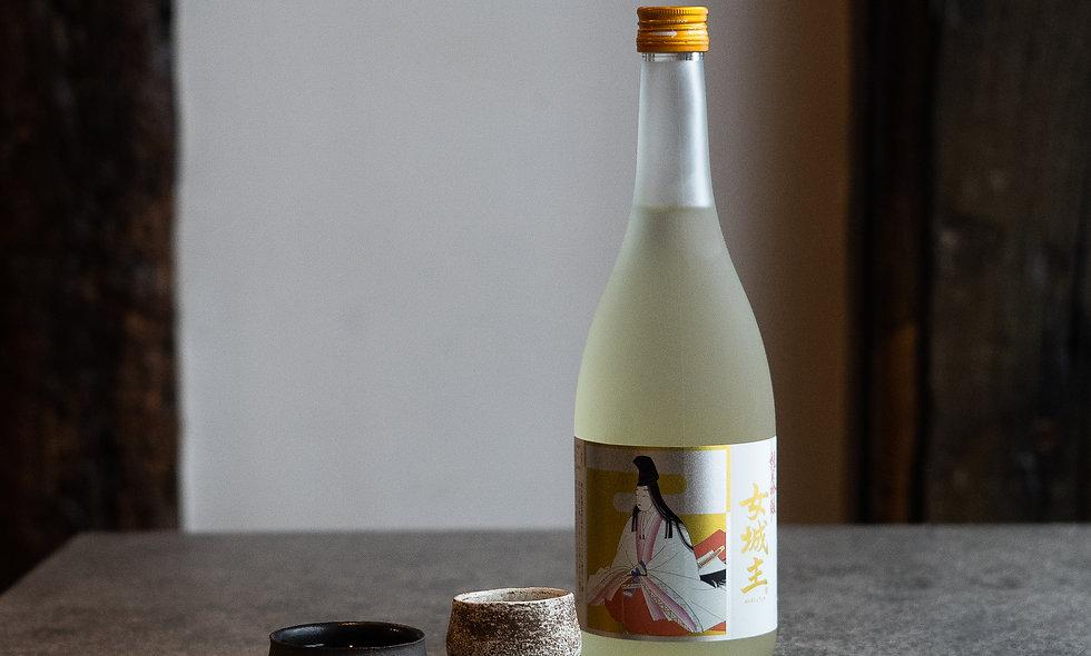 Coffret Saké Onna Joshu+ 2 O-chokos en céramique du chef Nabeta