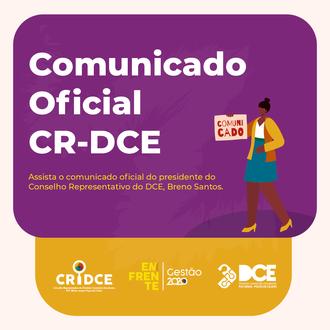 Comunicado Oficial CR- DCE