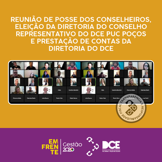 CR-DCE TOMA POSSE E APROVA PRESTAÇÃO DE CONTAS DO DCE