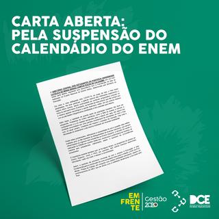 Carta Aberta: Pela Suspensão do Calendário do ENEM