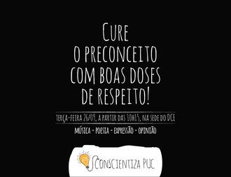 CURE O PRECONCEITO COM BOAS DOSES DE RESPEITO