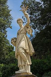 3856117  Флоренция, Сады Боболи, статуя