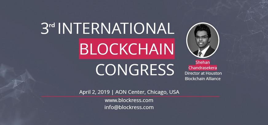 Internatonal Blockchain Congress Speech, Chicago