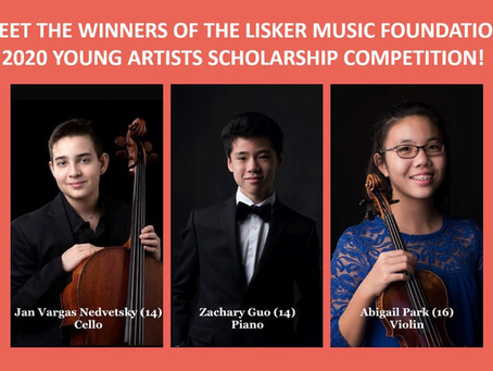 Winners of 2020 Young Artists Scholarship Competition!