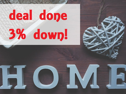 Deal Done 3% Down