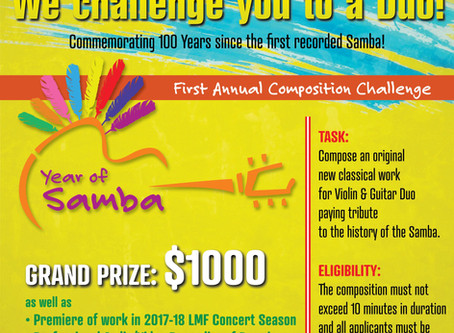 ANNOUNCING 1ST ANNUAL COMPETITION FOR COMPOSERS