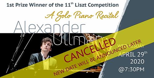 Alexander Ullman: A Solo Piano Recital