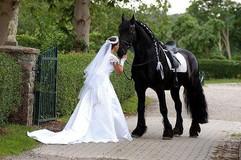 Braut mit Friesen