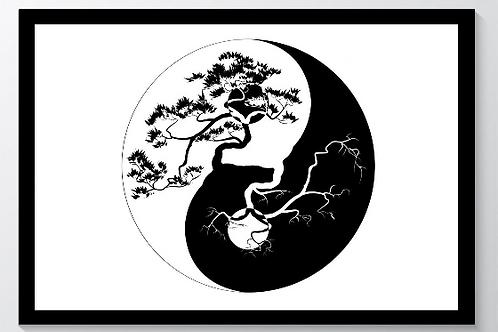 Kunstdruck Yin Yang Motiv DIN A3
