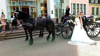 viktorianische Hochzeitskutsche