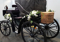 Hochzeitskutsche geschlossen