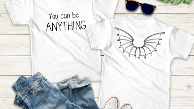 You Can Be Anything Kids T-shirt
