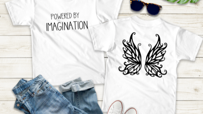 Powered By Imagination Kids T-shirt