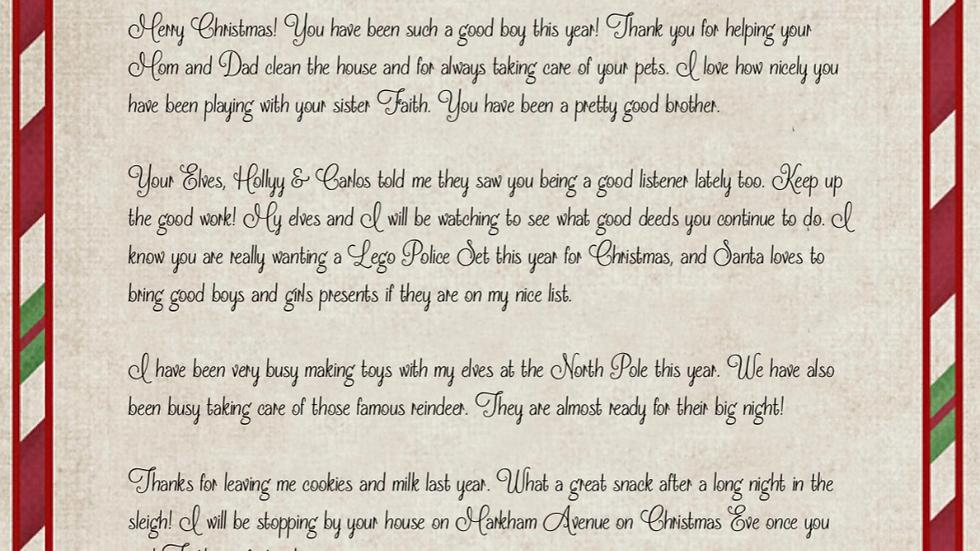 Santa Letter - Generic