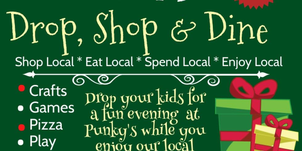 Drop, Shop & Dine