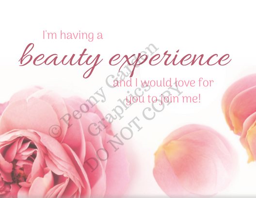 Beauty Experience Invite post cards