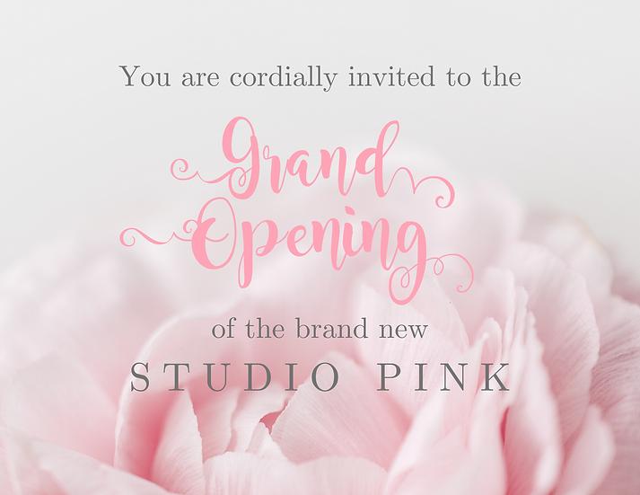 Editable Studio Debut Invite Card, Download