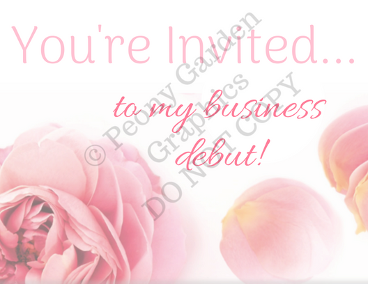 Business Debut Invite, post cards