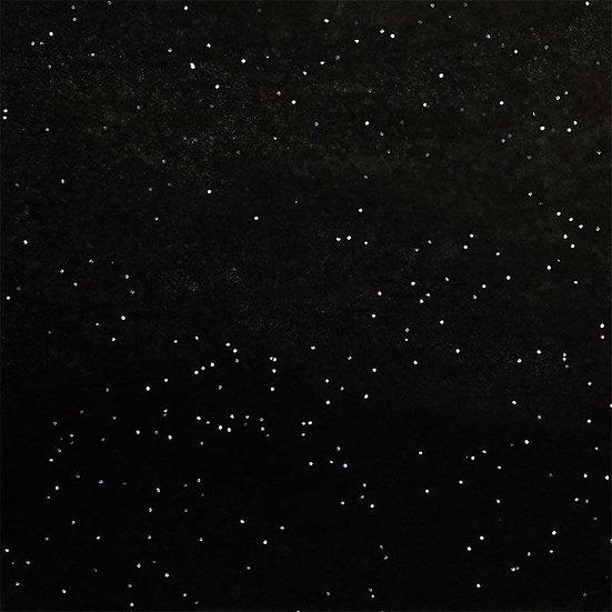 Black/Silver Sparkle Tissue Paper
