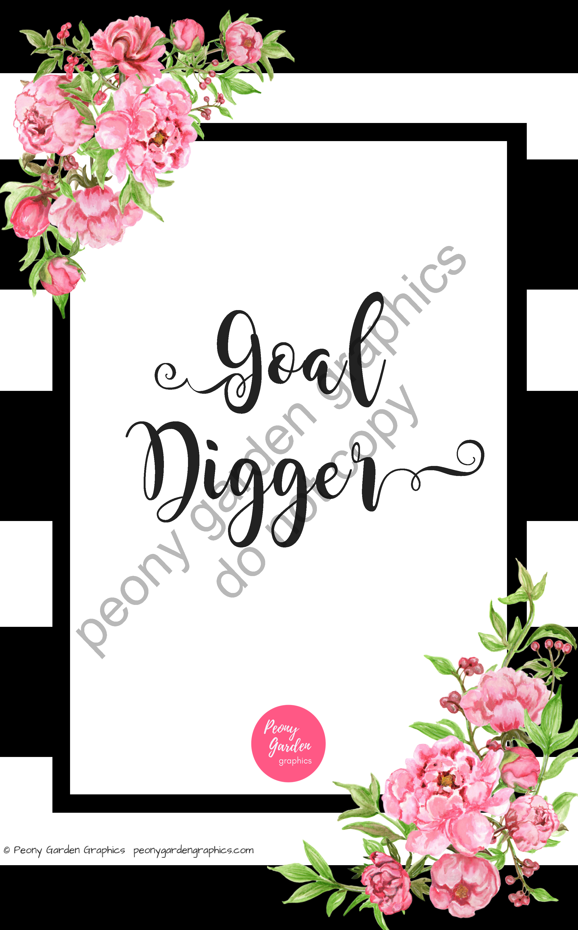 Planner Mon-LPV-Goals | PeonyGardenGraphics