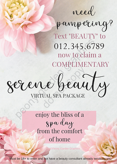 Serene Beauty Text Frame Download