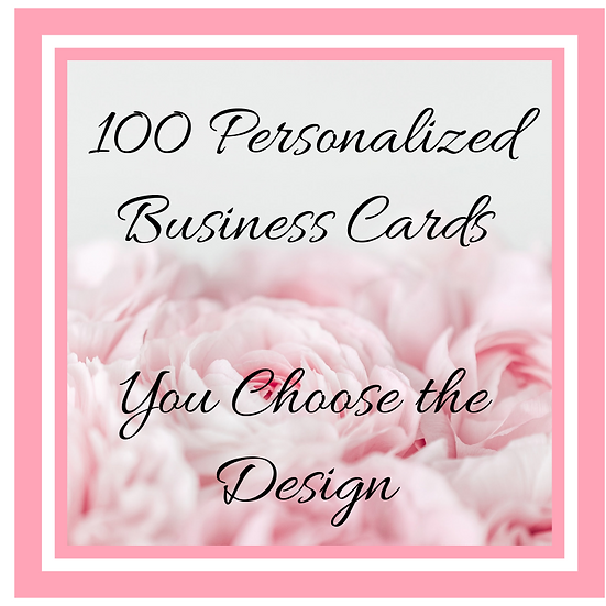 Personalized Business Card- Various Designs