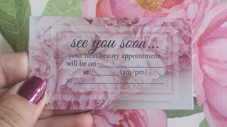 Appointment Cards, Pink Peonies