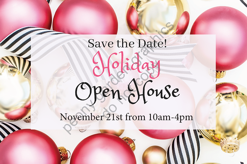 Holiday Open House Postcards