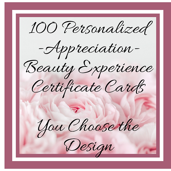 Personalized BE Appreciation Card:Various Designs