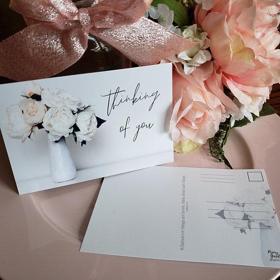 Thinking of You Postcard (Vase)