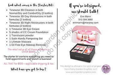 TEMPLATE Starter Kit comparison Postcard