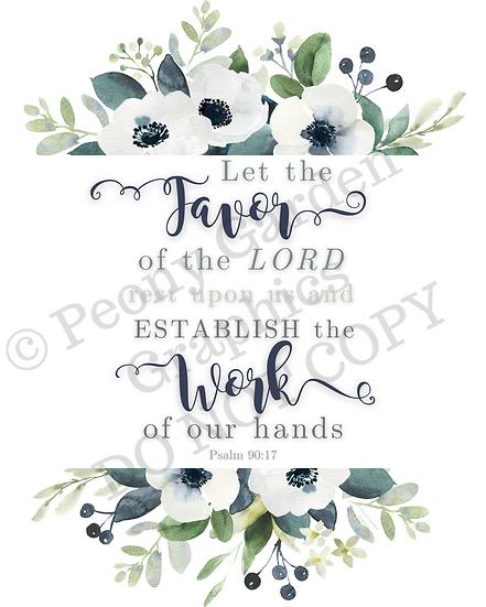 Psalm 90:17 Canvas Art, You Choose