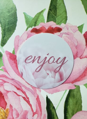 """""""Enjoy"""" stickers- Peony Collection"""