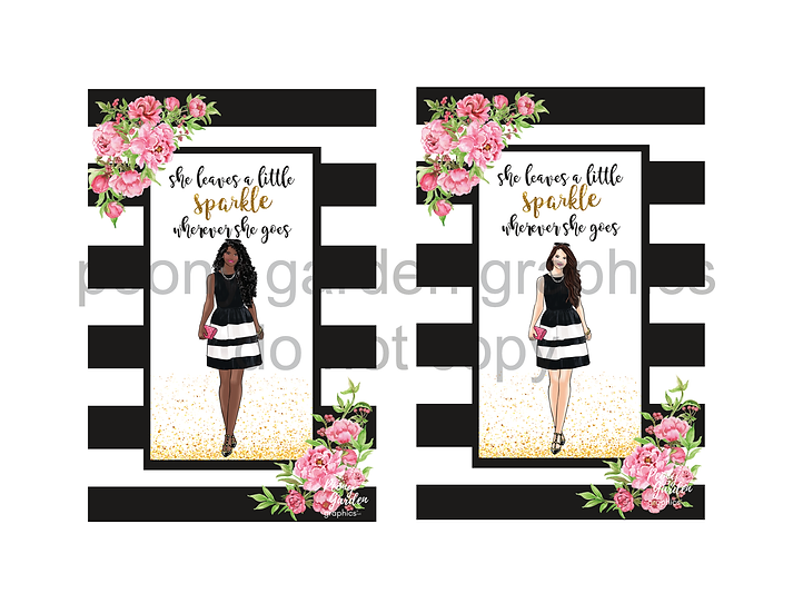 """""""She leaves a little sparkle"""" card download"""