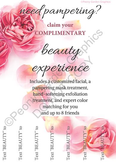 Tear-off-slip Beauty Experience Flier, PDF Download