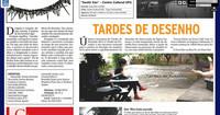 DIGITAL - Nota do jornal  Diário da Manhã abordando encontros do projeto Tardes de Desenho.