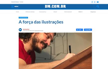 """IMPRESSO e DIGITAL - Matéria jornal Diário da Manhã sobre a edição transmídia da HQ """"Cidade Buraco"""".   A força das ilustrações."""