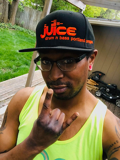 JUICE on New Era Snapbacks (black/orange)