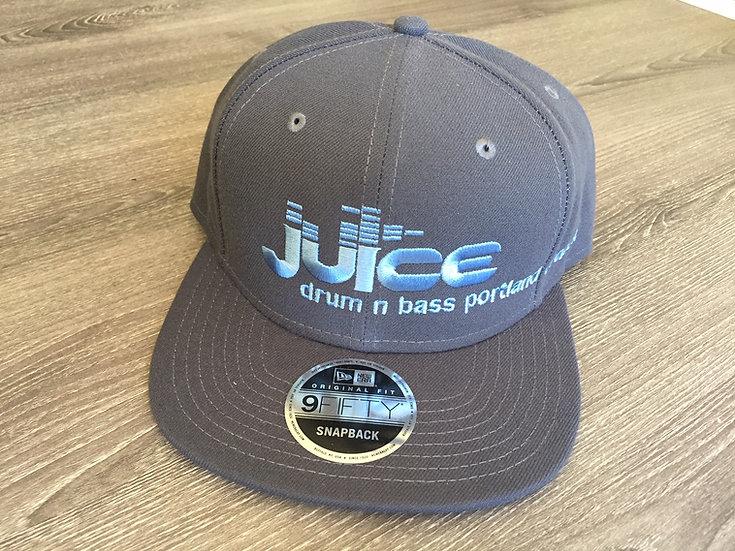 JUICE on New Era Snapbacks (gray/blue)