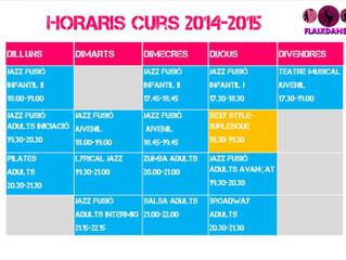 horaris NOU CURS 2014-15