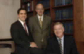 Pictured (L to R): Attorneys Damian M. Rossettie, Wm. Alan Shaw, R. Joseph Landy