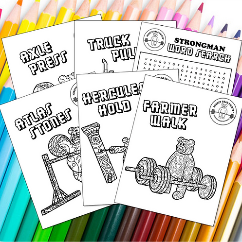 Strongman Printable Coloring Pages