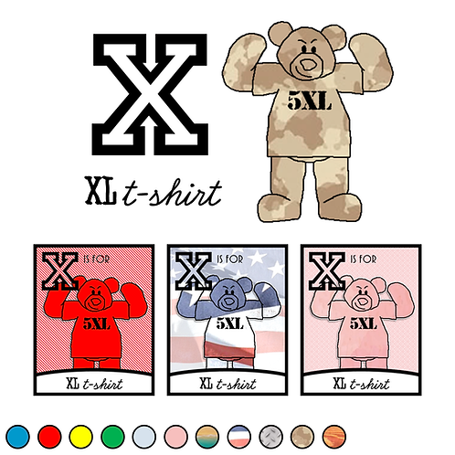X is for XL t-shirt
