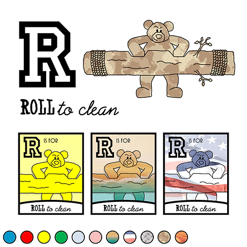 R is for Roll to Clean