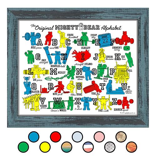 Mighty Bear Alphabet Poster